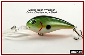 "Akuna Bush Whacker 4"" Diving Fishing Lure in  Bluegill [BP 55-99]"