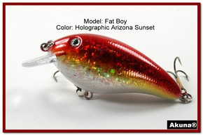 "Akuna Fat Boy 3.2"" Crankbait Fishing Lure in  AZ Sunset [BP 56-84]"