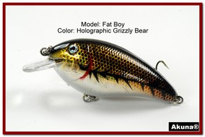 "Akuna Fat Boy 3.2"" Crankbait Fishing Lure in  Grizzly Bear [BP 56-88]"