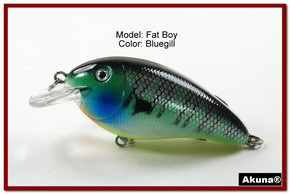 "Akuna Fat Boy 3.2"" Crankbait Fishing Lure in  Tiger Eye [BP 56-97]"