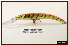 """Akuna Hypnotizer 5.9"""" Diving Fishing Lure in  Orange Tiger [BP 82-78]"""