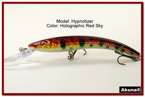 "Akuna Hypnotizer 5.9"" Diving Fishing Lure in  Red Sky [BP 82-81]"