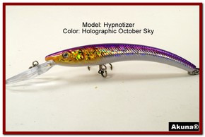 "Akuna Hypnotizer 5.9"" Diving Fishing Lure in  October Sky [BP 82-82]"