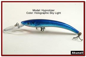 "Akuna Hypnotizer 5.9"" Diving Fishing Lure in  Sky Light [BP 82-83]"
