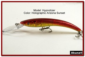 "Akuna Hypnotizer 5.9"" Diving Fishing Lure in  AZ Sunset [BP 82-84]"