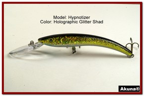 "Akuna Hypnotizer 5.9"" Diving Fishing Lure in  Glitter Shad [BP 82-85]"