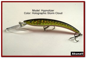 "Akuna Hypnotizer 5.9"" Diving Fishing Lure in Storm Cloud [BP 82-86]"