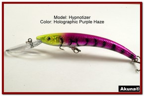 "Akuna Hypnotizer 5.9"" Diving Fishing Lure in Purple Haze [BP 82-87]"