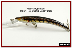 "Akuna Hypnotizer 5.9"" Diving Fishing Lure in Grizzly Bear [BP 82-88]"