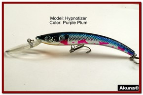 "Akuna Hypnotizer 5.9"" Diving Fishing Lure in Purple Plum [BP 82-89]"
