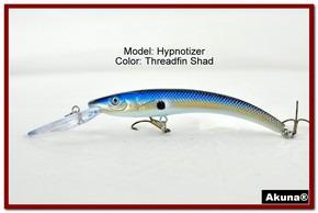 "Akuna Hypnotizer 5.9"" Diving Fishing Lure in Threadfin Shad [BP 82-91]"