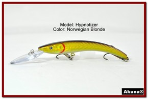 "Akuna Hypnotizer 5.9"" Diving Fishing Lure in Norwegian Blonde [BP 82-92]"