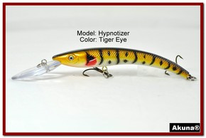 "Akuna Hypnotizer 5.9"" Diving Fishing Lure in Tiger Eye [BP 82-94]"