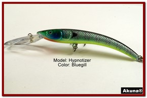 "Akuna Hypnotizer 5.9"" Diving Fishing Lure in Bluegill [BP 82-97]"