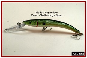 "Akuna Hypnotizer 5.9"" Diving Fishing Lure in Chattanooga Shad [BP 82-99]"