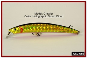 "Akuna  Crawler 5.3"" Minnow Fishing Lure in color Storm Cloud [BP 86-86]"