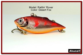 "Akuna Rattlin' Rover Lipless Series 2.5 inch Sinking Lure in color ""Desert Fox"" [BP 89-79]"