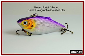"Akuna Rattlin' Rover Lipless Series 2.5 inch Sinking Lure in color ""October Sky"" [BP 89-82]"