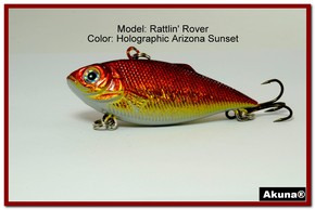 "Akuna Rattlin' Rover Lipless Series 2.5 inch Sinking Lure in color ""AZ Sunset"" [BP 89-84]"