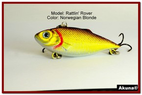 "Akuna Rattlin' Rover Lipless Series 2.5 inch Sinking Lure in color ""Norwegian Blonde"" [BP 89-92]"