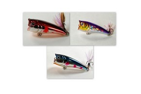 "Akuna Pack of 3 Top Dog 2.4"" Popper Fishing Lure - Clearance"