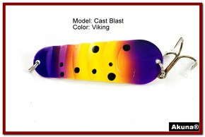 "Akuna Cast Blast 3"" Spoon Fishing Lure in color Viking [JM 02-33]"