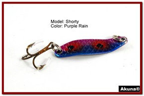 "Akuna Shorty 1.5"" Spoon Fishing Lure in color Purple Rain [JM 14-29]"