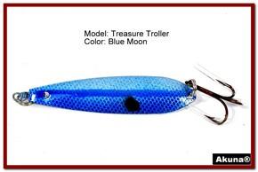 "Akuna Treasure Troller 3"" Trolling Spoon Fishing Lure in color Blue Lagoon [JM 15-26]"