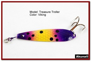 "Akuna Treasure Troller 3"" Trolling Spoon Fishing Lure in color Viking [JM 15-33]"