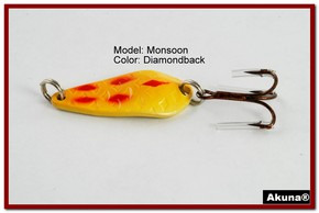 "Akuna Monsoon 1.3"" Spoon Fishing Lure in color Diamondback [JM 42-22]"