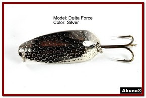 "Akuna Delta Force 2.75"" Spoon Fishing Lure in color Silver [JM 68-24]"