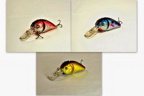 "Akuna Pack of 3 Wart Hog 3.4"" Diving Jointed Fishing Lure - Clearance"
