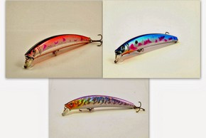 "Akuna  Pack of 3 Crawler 5.3"" Minnow Fishing Lure - Clearance"