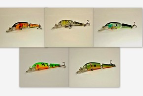 "Akuna Pack of 5 Broken Tail 3.9"" Topwater Jointed Fishing Lure - Clearance"
