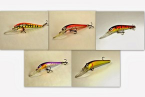 "Akuna Pack of 5 Swoose Goose Medium Diving 4.7"" Fishing Lure - Clearance"