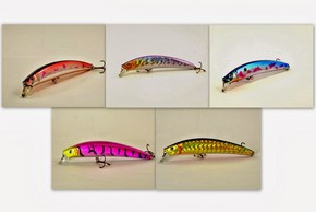 "Akuna  Pack of 5 Crawler 5.3"" Minnow Fishing Lure - Clearance"