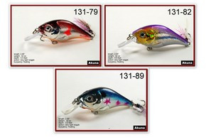 "Akuna Pack of 3 Glittertail 3"" Crankbait Fishing Lure - Clearance"