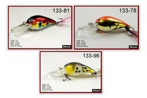 "Akuna Pack of 3 Little Chubby 3"" Crankbait Fishing Lure - Clearance"
