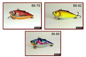 Akuna Pack of 3 Rattlin' Rover Lipless Series 2.5 inch Sinking Lure - Clearance