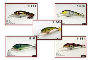 """Akuna Pack of 5 Sly Shad 3.5"""" Crankbait Fishing Lure - Clearance"""