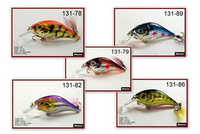 "Akuna Pack of 5 Glittertail 3"" Crankbait Fishing Lure - Clearance"