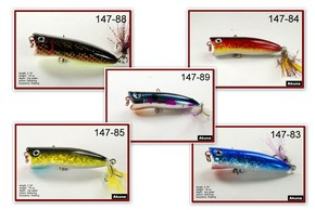 """Akuna Pack of 5 Jerkster 2.2"""" Topwater Popper Fishing Lure - Clearance Item"""