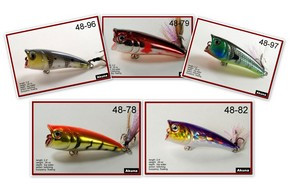 "Akuna Pack of 5 Top Dog 2.4"" Popper Fishing Lure - Clearance"