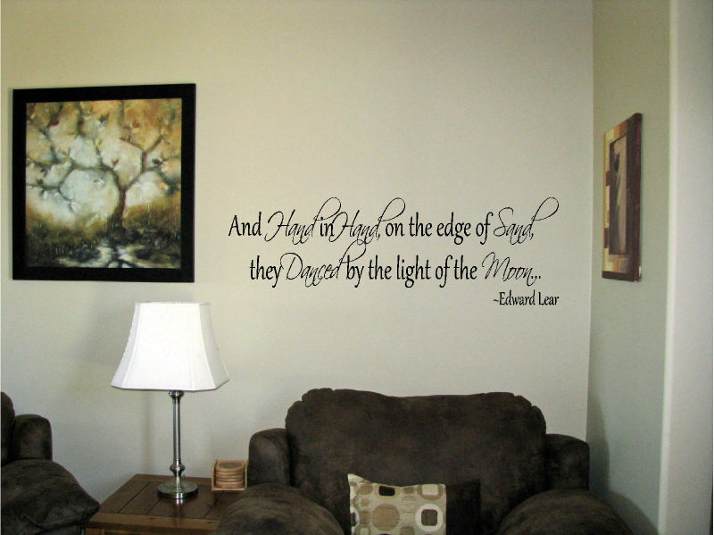 And-hand-in-hand-on-the-edge-of-sand-Vinyl-Wall-Art-Words-Decals-Stickers-Decor