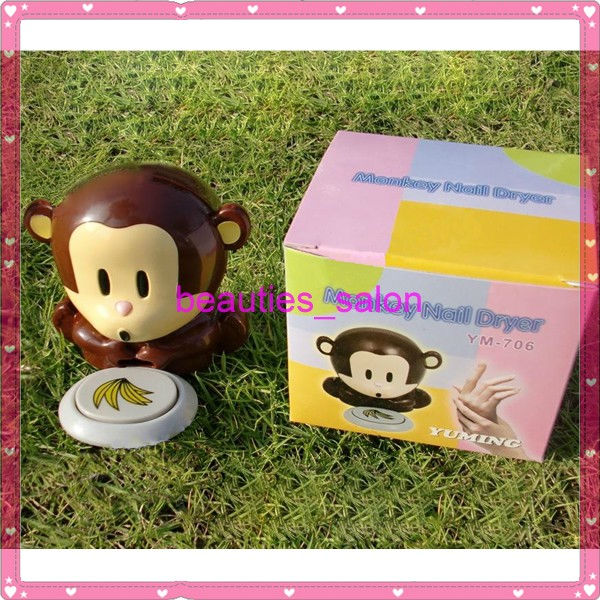 Details about Cute Monkey Design Nail Dryer Nail Art Polish UV Gel ...