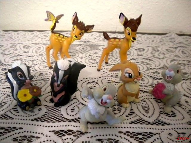Details About Disney Bambi Thumper Bunny Flowers Skunk Figure