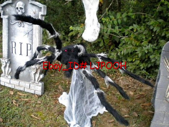 Animated Halloween Jumping Spider http://www.ebay.com/itm/ANIMATED-GIANT-JUMPING-SPIDER-HALLOWEEN-PROP-DECORATION-GREAT-SOUNDS-LIGHTS-/290630904808