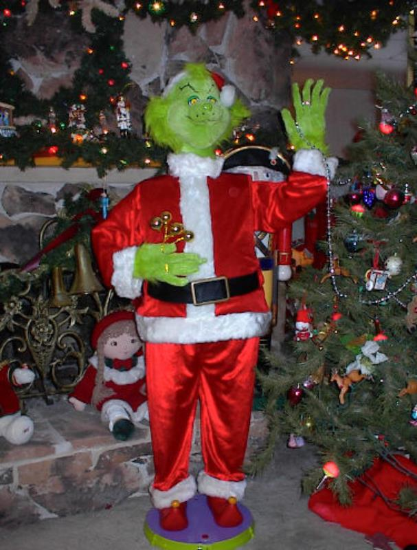 "Life Size Animated 5 Foot 2"" Grinch Stole Christmas W. Wooden Nativity Christmas Tree Decorations. Decorated Christmas Tree Gallery. Christmas Decorations To Hire. Christmas Wedding Decorations Ideas"