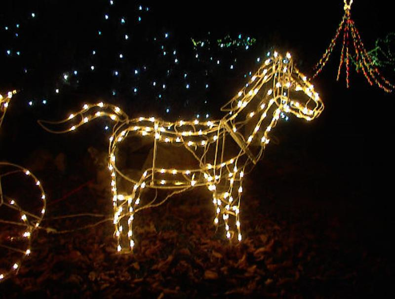 Outdoor Christmas Decorations Horse Carriage : Large lighted christmas horse carriage yard sculpture