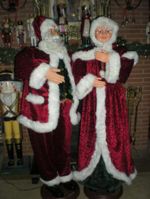 Animated foot quot life size santa claus singing and